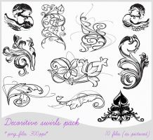 ornamental damask pack by PicturesOfPelicans