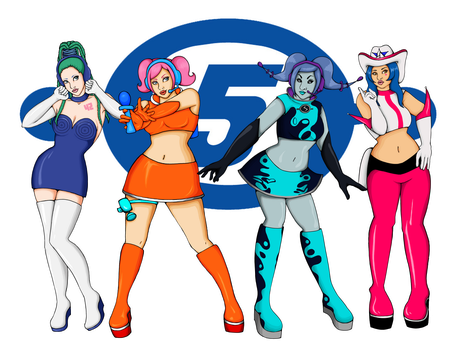 Space Channel 5 Babes by lex-TC