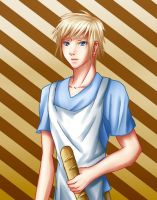 Peeta-Boy with Bread by assassins-fate