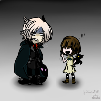 (Fran Bow) Funny meeting. by ZoDiacFNAF