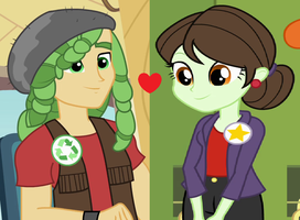 Equestria Girls: Green Cycle and Sophisticata by 3D4D