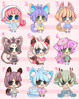 Sweet babies set price CLOSED by Kariosa-Adopts