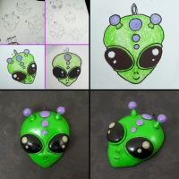 Alien Pendant by beatblack