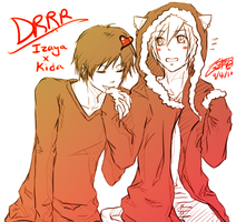 DRRR - Izaya x kitty Kida by dairytea