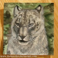Snowleopard painting by TheKarelia
