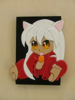Inuyasha, with Lollypop by RamageArt