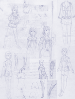 Crossover Effect Senshi concept sketches by Nanahuatli