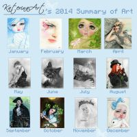 2014 summary of my Art by Katerina-Art