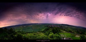 Storm over Vineyard by geckokid