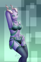Gift - Technical Pin Up by serenadefox