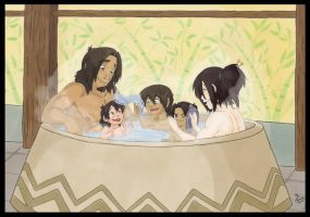 The Family At Bath Time by ThePhoebster