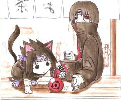 Itachi's pet... by Midorikawa-eMe111
