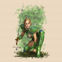 Elven Huntress by darkwolf-designs