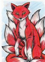 nine tail fox by RACHLOVEDRAW