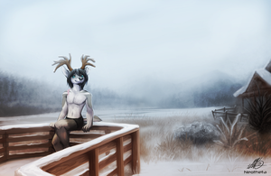 Snow Deer by Neotheta