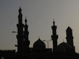 Cairo Minarets at Sunset by AndySerrano