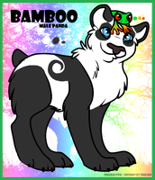 My panda bear reference sheet Bamboo by GalaxyCrowButt