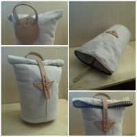 Canvas and Leather Bag by passbyguy