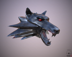 Witcher medallion by fullmoon-mysticism