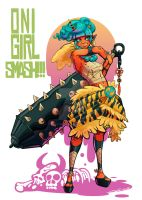 Oni Girl SMASH by AudreyGreenhalgh