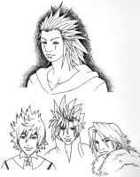 Kingdom Hearts Boys -Ink- by fanchielover15