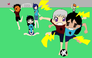 Playin soccer with my sis by Blazelover600