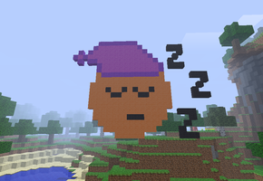 Minecraft sleepy emoticon by joniimo