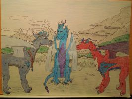 The Three Heroes- Contest Entry for Criex by drazarg