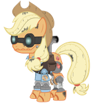 Applejack - Mann vs. Machine Update #2 by Avastindy