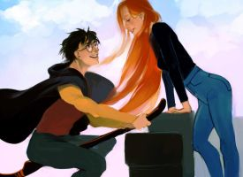 Harry and Ginny by MeryChess