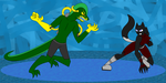 11. Alley Labra vs. The Electricfyer by CardGamePhantom
