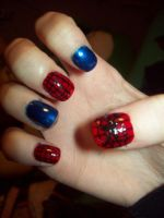 Spiderman Nails by ffishy21