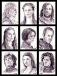 Game of Thrones Portrait series by roberthendrickson