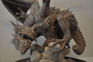 Dragon Wyrm Sculpt WIP 10 by AntWatkins