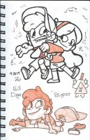 Mable, Dipper, and Bipper by Marimokun