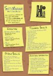 Post It Resume by alasse91