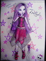 Drawing of my Spectra Vondergeist Doll by Trilly21