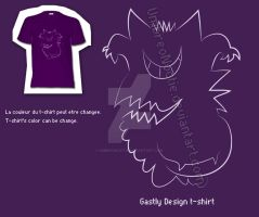 Gastly line Design T-shirt by UmbreoNoctie