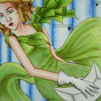 Art Deco Girl by whaats