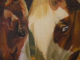 Oil painting detail - Eyes by Marbletoast