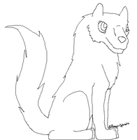 Wolf Lineart by MysticalWhisper