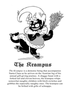 Your Guide to Child-Eating Monsters: The Krampus by Galago