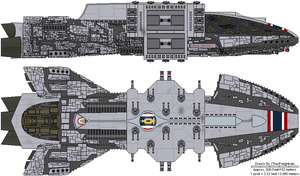 Plieades Caprican Battleship D by TheFreighTrain