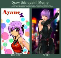 Draw Again ayane :D by Claw333Ayane