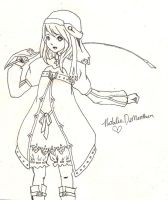 Alice number 2 line art by bhakri