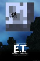 Minecraft ET Poster by LucasJMoore