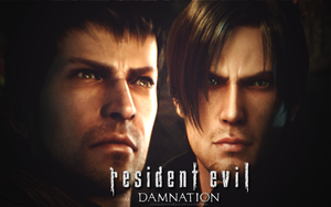 Leon and Buddy - Resident Evil Damnation by JillValentinexBSAA