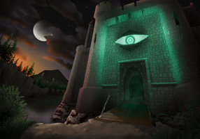 Perpetual Night - Early Castle Concept by Zink120