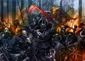 Warriors of Chaos by MajesticChicken