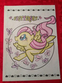 Fluttershy Coloring by kimberjoannlewis